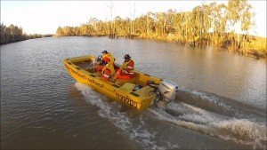 ses boat demonstrating operational response